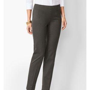Refined Straight Leg Trousers Side Zip Talbots